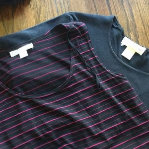 2 great pieces dress barn tank n tee large